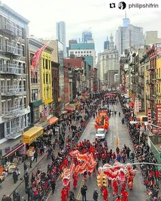 Photo by @philipshifrin: Lunar New Year Parade #NYC #dragons