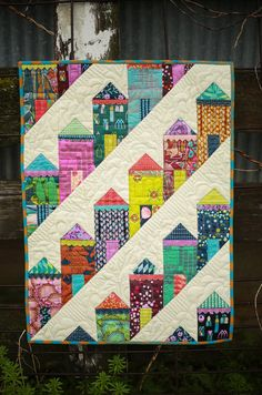 This line from Shakespeares Midsummer Nights Dream inspired a new line of patterns from Eye Candy Quilts, the fierce quilts. Each fierce quilt will measure less than 24, perfect for your upcoming mini quilt swap or a great wallhanging project. Fierce Ladies was inspired by the beautiful neighborhood in San Francisco, all those brightly gingerbread houses perched on a hill. Now you can make doll houses perched on a hill! Each cheerful little house has a touch of appliqué gingerbread trim and…