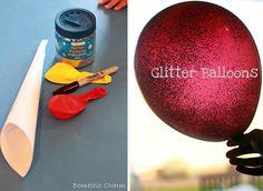 Make easy glitter balloons.