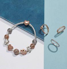 Brilla con elegancia con las joyas de PANDORA Rose, fabricadas con una aleación única de metales en tono rosado