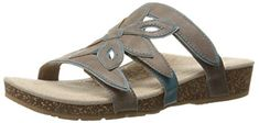 Aetrex Womens Kristen Petal Slide Sandal Stone 9 M US *** You can get additional details at the image link. (This is an affiliate link) #WomensSlidesSandals