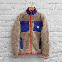 Penfield Kenai Multi-Pocket Fleece Jacket In Ecru, Via FUSShop.