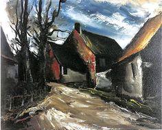 モーリス・ド・ヴラマンク(Maurice de Vlaminck) 嵐のあとの村 (Village après l'orage)