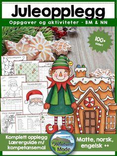 Et komplett juleopplegg for førjulskos innen matematikk, engelsk og norsk!