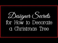 Designer Secrets for How to Decorate a Christmas Tree Clear Christmas Ornaments, Unusual Christmas Trees, Different Christmas Trees, Christmas Tree Toppers, Christmas Items, Christmas Tree Decorations, White Christmas, Christmas Holidays, Christmas Wreaths