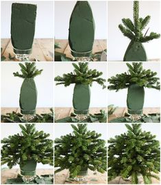 great fir branches in vase: How to make the Christmas .- super Tannenzweige in Vase: So machen Sie die Weihnachtsgestecke haltbar! great fir branches in vase: How to make the Christmas arrangements durable! Classy Christmas, Noel Christmas, Rustic Christmas, Christmas Wreaths, Christmas Crafts, Christmas Ornaments, Christmas Branches, Small Christmas Trees, Xmas Tree