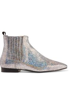 Joseph - Glittered Leather Chelsea Boots - Silver - IT40.5