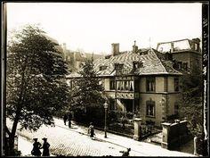 Die Paul-Heyse-Straße 1905 als geradezu ländliche Idylle mit begrünten Vorgärten. Die werden 1936/37 hier und in der Schwanthalerstraße gekappt. Foto: Volk Verlag/Stadtarchiv München