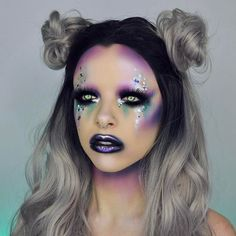WEBSTA @ kimberleymargarita_ - Used the @Smashboxcanada Cover shot palette in BOLD to create this alien glam. Crazy pigmentation and shades to satisfy my colourful heart.  Have you tried it? #smashboxcanada #smashboxsquad