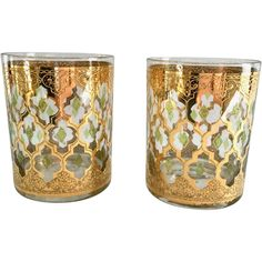 This Set of Two Mid-Century Culver Glass Double Old Fashion Tumblers in the beloved Valencia pattern is absolutely stunning! Reminiscent of Morocco, the design, using Culver's secret process produces Mad Men Party, Vintage Cocktails, Vintage Dinnerware, Mid Century Modern Decor, Vintage Dishes, Party Accessories, Vintage Home Decor, Artisan Jewelry, Unique Gifts