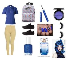 """""""Bluuuuue"""" by majesticdreams on Polyvore featuring Converse, Etro, Essie, Elie Saab and MAC Cosmetics"""