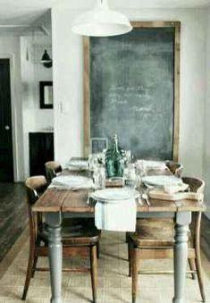 Beautiful Modern Farmhouse Dining Room Decor Ideas – Home Decor Ideas Home Interior, Interior Design, Kitchen Interior, Interior Ideas, Modern Interior, Modern Table, Rustic Modern, Rustic Wood, Weathered Wood
