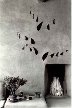 Myron Wood (1921-1999): Mobile by Alexander Calder | Georgia O'Keeffe's house in Abiquiu, New Mexico, 1980