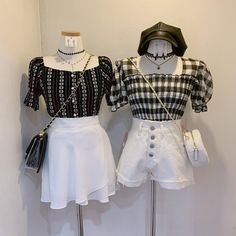 Kpop Fashion Outfits, Ulzzang Fashion, Korean Outfits, Cute Fashion, Daily Fashion, Korean Fashion, Womens Fashion, Matching Outfits Best Friend, Fashion Illustration Dresses
