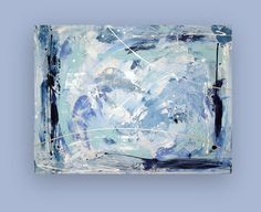 Acrylic Abstract Large Blue Original Painting by OraBirenbaumArt, $365.00