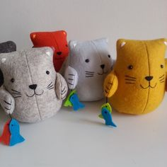 Fish 'n' chips a cute cat sewing pattern PDF by ricracsews
