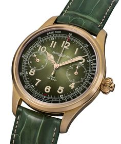 See the Montblanc 1858 Chronograph Tachymeter Unique Piece Only Watch 2017 watch - Movement : Manual-winding mechanical - Case : Bronze Watches For Men Unique, Luxury Watches For Men, Cool Watches, Stylish Watches, Monochrome Watches, Timex Watches, Men's Watches, Male Watches, Hobbies For Men