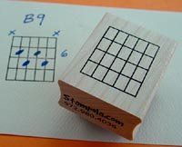 Guitar Chord Stamp (Large) - 4 Fret
