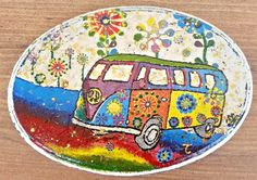 V w camper van sign, fathers day gift  hippie peace sign, hippies, sixties, hippie decor,  boho wall hanging,, greek shop, hippie lover