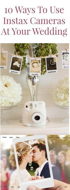10 creative and fun ways to use Fujifilm Instax cameras at your wedding. @INSTAXamericas