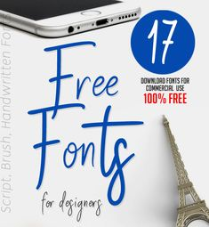 17 Fresh Free Fonts for Graphic Designers         #brushfont #fontdownload #freefonts #scriptfonts #freebies #handwrittenfonts #sansserif