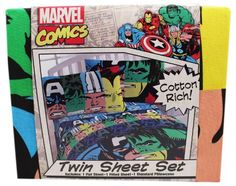 Marvel Comics Cotton Rich Twin Sheet Set >>> Check this awesome product by going to the link at the image.Note:It is affiliate link to Amazon.