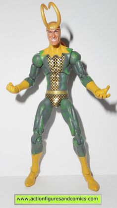 Hasbro toys action figures for sale to buy MARVEL UNIVERSE 2009 LOKI 100% COMPLETE condition: Excellent. nice paint, nice joints. nothing broken, damaged, or missing. figure size: 4 inches -----------