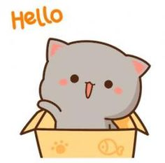 The perfect Hello Cute Cat Animated GIF for your conversation. Discover and Share the best GIFs on Tenor. Cute Anime Cat, Cute Cat Gif, Funny Cute, Cute Cartoon, Cute Cats, Super Funny, Arte Do Kawaii, Kawaii Cat, Chibi Cat