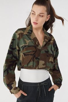 db794d110df6f Nasty Gal After Party Vintage Bite the Bullet Camo Jacket ($90 ...