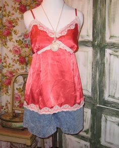 Vintage Sexy Red Cami Lingerie Top by EndlesslyVintage on Etsy, $16.00