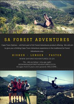 Attractions - Silvermist Forest Adventure, Product Offering, Cape Town, Attraction, Movie Posters, Film Poster, Billboard, Film Posters