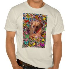 Trista, Rescue Mixed-Breed in Butterflies T Shirts