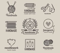 Handmade line vintage logo set by ssstocker on @creativemarket