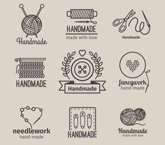 Handmade line vintage logo set by ssstocker on @creativemarket