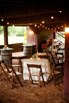 #CedarwoodWeddings barn, cocktail hour    Shabby Chic Summer Wedding :: Sloan+Aaron
