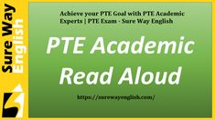 FREE PTE Information guides, Preparation course, Expert guidance, Mock tests, pte exam and lots more. Get a high score in PTE Academic and achieve your goals. Pte Exam, Pte Academic, Mock Test, Achieve Your Goals, Read Aloud, English, Reading, Youtube, Free