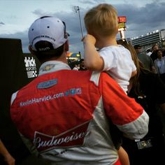 Hanging out with my buddy after a day at the track. #NASCAR #Padgram @kevinharvick