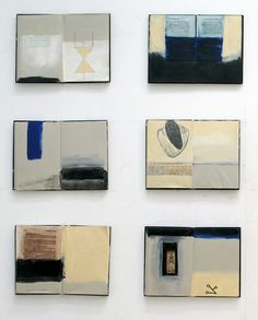 It's a narrative  … told in fragments Fragments are more interesting, anyway No good telling you  Everything. You guess why. Excerpt: Six out of 16 Books, 2007Acrylic and mixed media on books /via zea