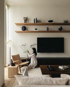 Apartment Interior, Apartment Design, Living Room Interior, Home Living Room, Living Room Decor, Living Spaces, Decoration Inspiration, Interior Design Inspiration, Home Room Design