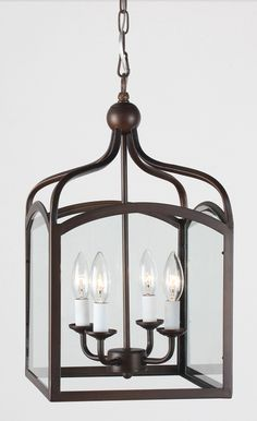 Ashley Antique Copper 4-light Foyer Hanging Lantern, $107.99 -- Overstock.com