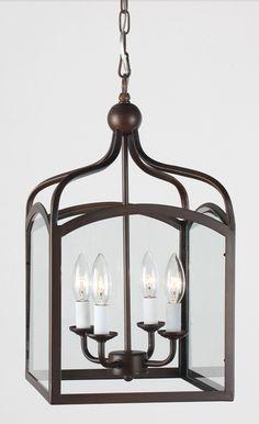 Ashley Antique Copper 4-light Foyer Hanging Lantern, $107.99 -- Overstock.com