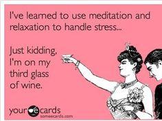 Third glass...