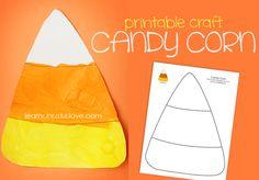 Pinterest Fall Preschool Crafts | Printable Candy Corn Craft }