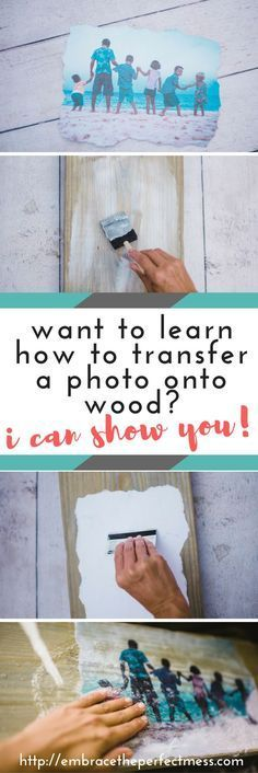 This is so cool!! i always wondered how to transfer a photo onto wood. It's actually pretty easy!