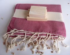 Natural Soft Cotton BathSpa Beach Towel Handwoven by TheAnatolian, $28.90