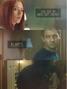 Always. (I love that there are sooooo many Clintasha edits out there. I ship them. I just wish there were the same for the other Marvel otps.)