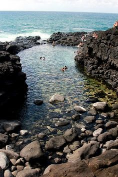 Queen's Bath ~ Kauai, Hawaii- or we'll at least have to island hop to Kauai! It'll be right next door & it looks absolutely gorgeous!