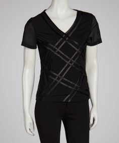 Black Crisscross Tee | Daily deals for moms, babies and kids