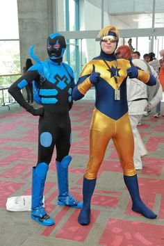 Blue Beetle & Booster Gold - dude, wrong Blue Beetle