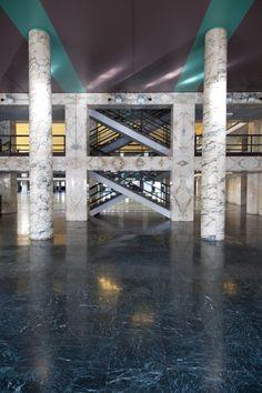 Palazzo dei Congressi a Roma. Adalberto Libera